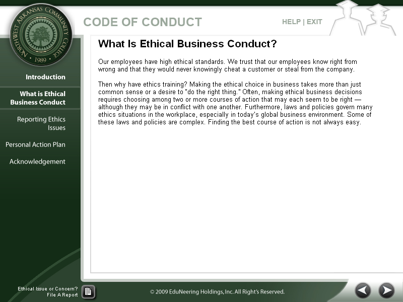 efeliciano select your business ethics issue